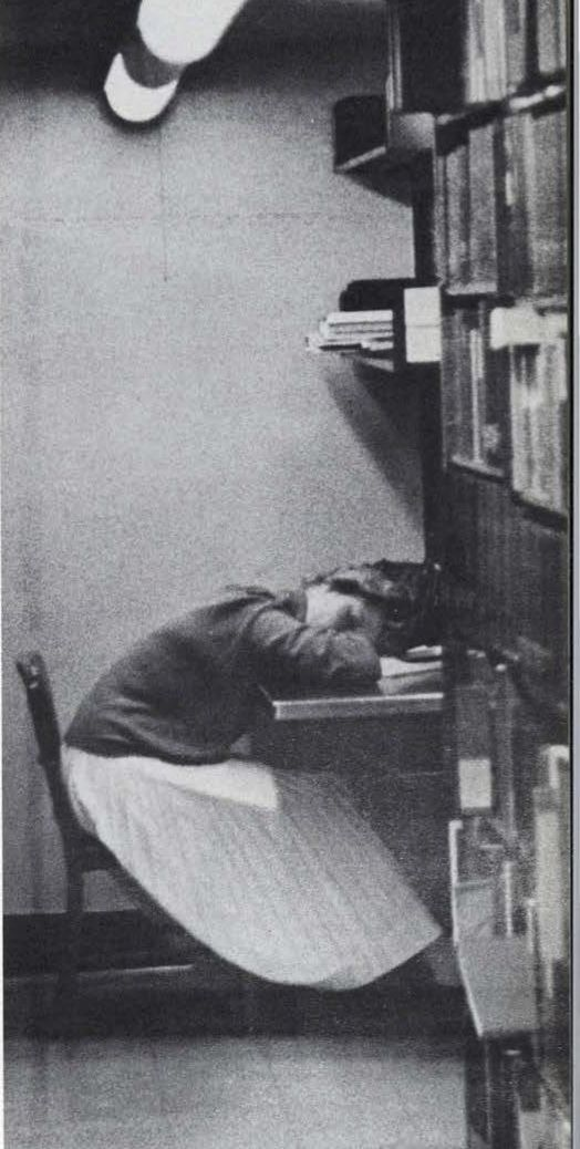 Nap time in the Law School Library 1960. From the 1960 Oregana (University of Oregon yearbook). www.CampusAttic.com