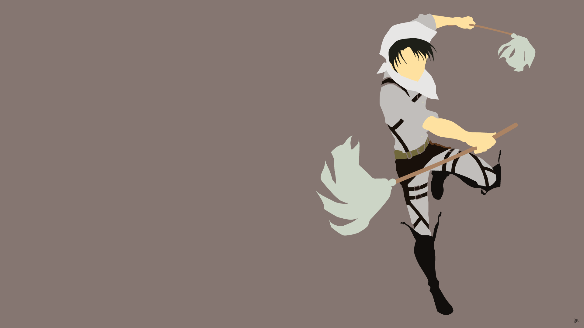 Anime Attack On Titan Levi Ackerman Wallpaper Attack On Titan Anime Minimalist Wallpaper Anime Wallpaper