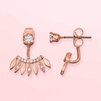 Lc Lauren Conrad Runway Collection Ear Jacket Earrings Rose Gold Tone 18 Kohl S