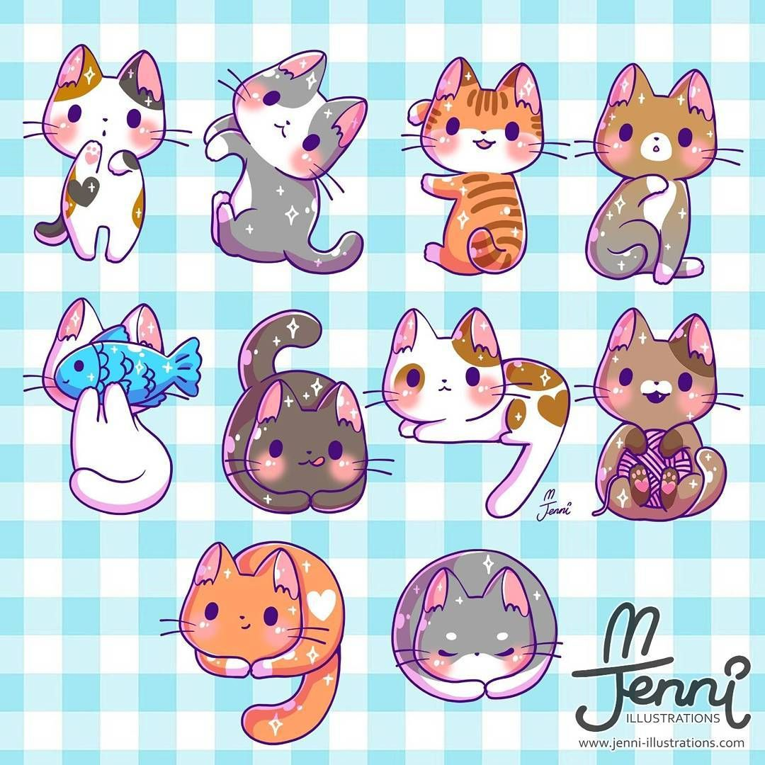 Number cats 💖 (=^・ェ・^=)ノ彡☆ 1234567890 . . . numbers cats