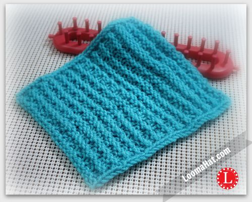 Textured Stripes Square. Free Loom Knit Pattern for 8x8 Square ...