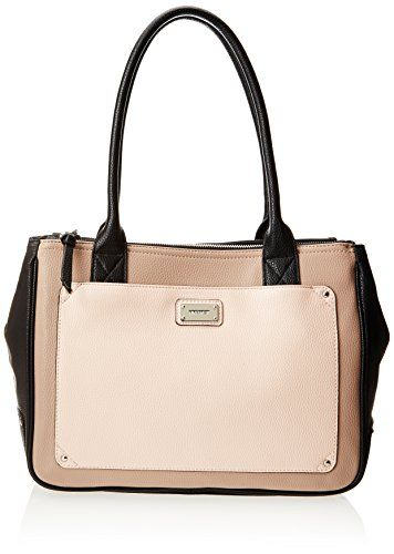 b3ce917ad6536  deal Nine West Double Vision Shopppe LG Shoulder Bag,Black Ivory Multi,