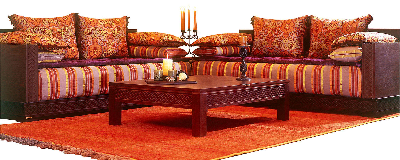 salon original   Salon Marocain Tinmel avec tissu Joumana Prune ...