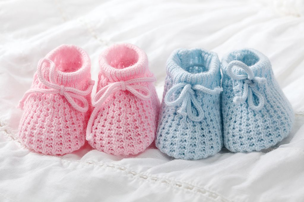 Cute idea for baby gender reveal baby shoes newborn