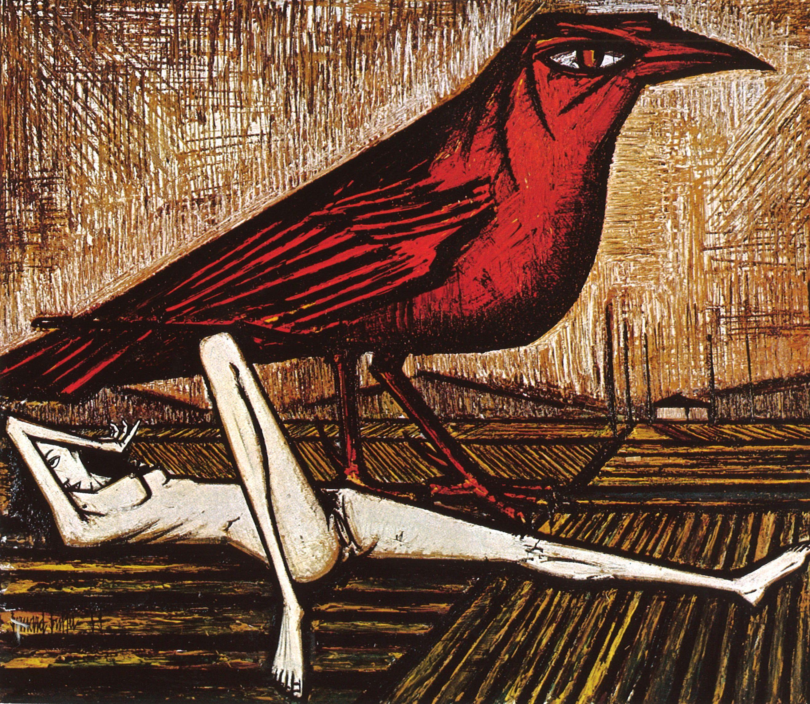 Bernard buffet l oiseau rouge 1959 art pinterest for Buffet bernard