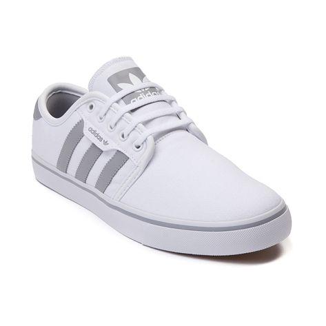mens adidas seeley scarpa da ginnastica, bianco, grigio e bianco per la t