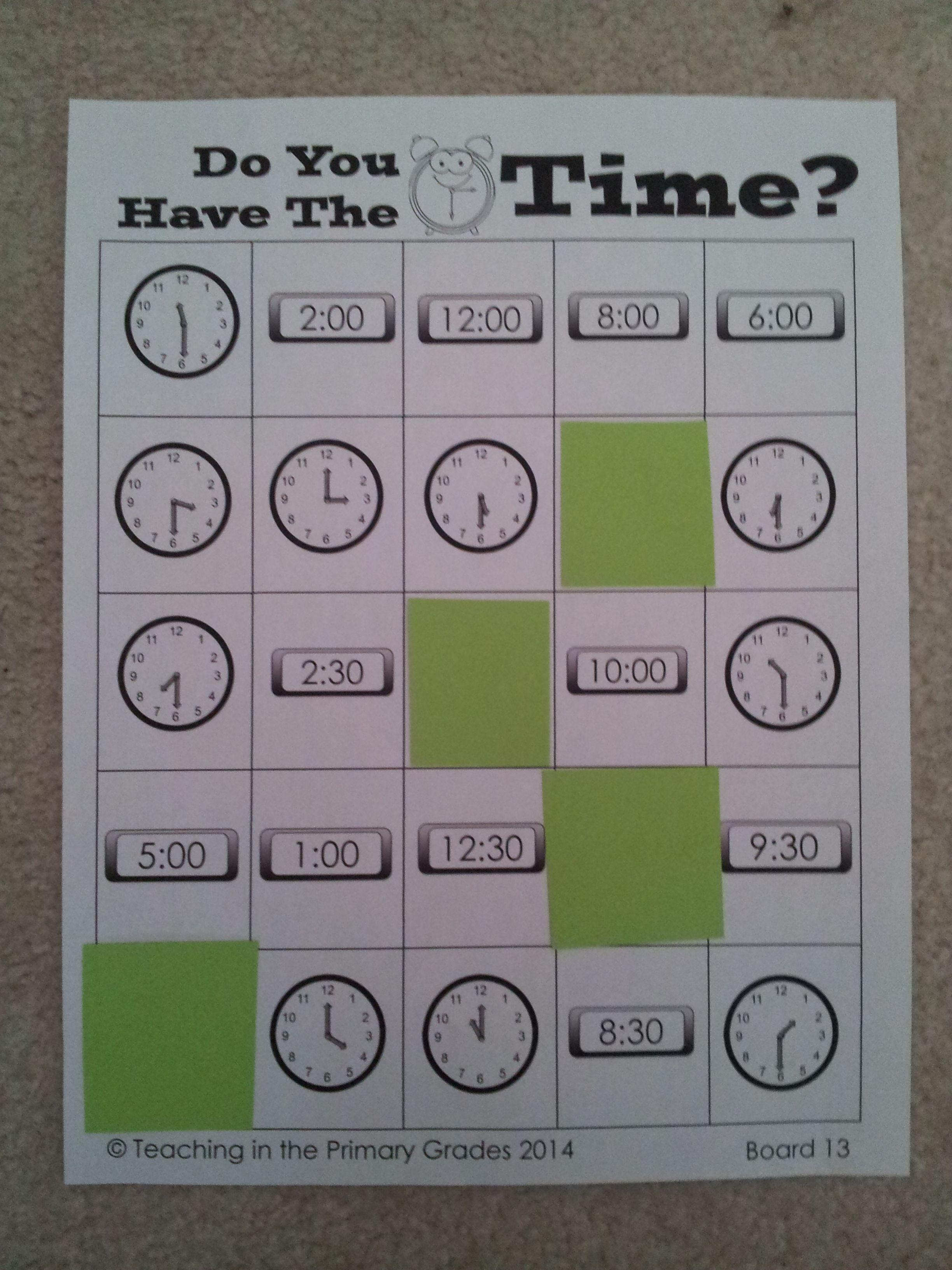 Telling Time Bingo- Do you have the time? | Sprachen, Englisch und ...