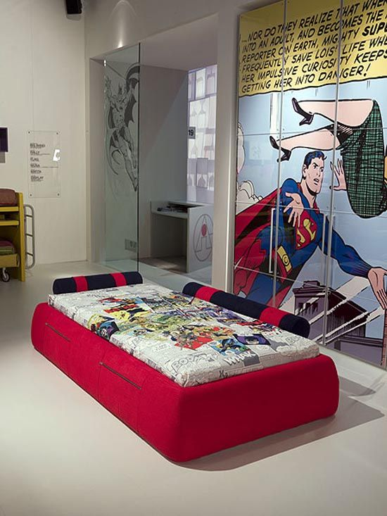 cartoon kids room-superman superhero themed furniture | superman