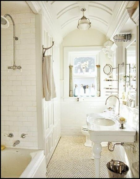 Fabulous Vintage Bathroom Content In A Cottage White Bathroom Decor Contemporary White Bathrooms Country Bathroom Designs