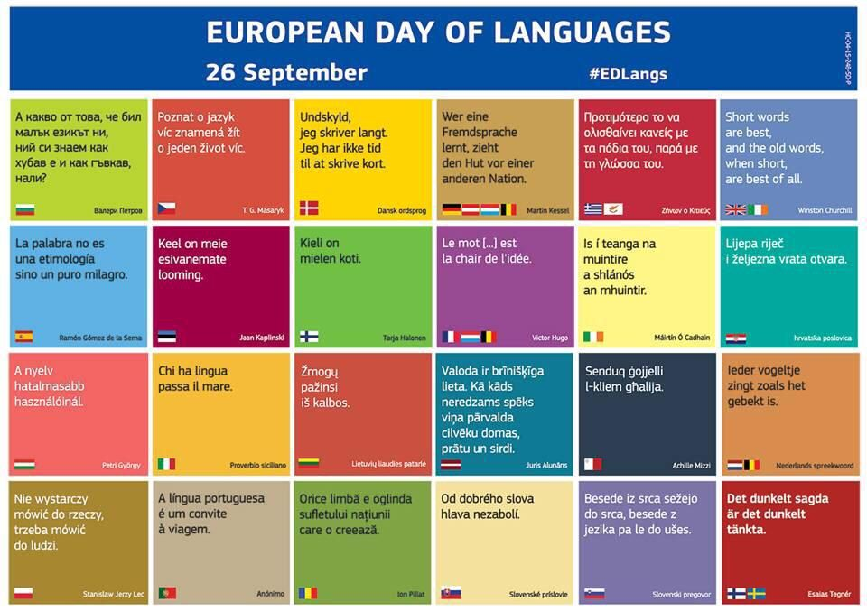 European Day Of Languages By Ivana Tomasevic On Italian Grammar Language