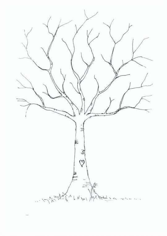 Diy Fingerprint Tree Poster Instant Download 8
