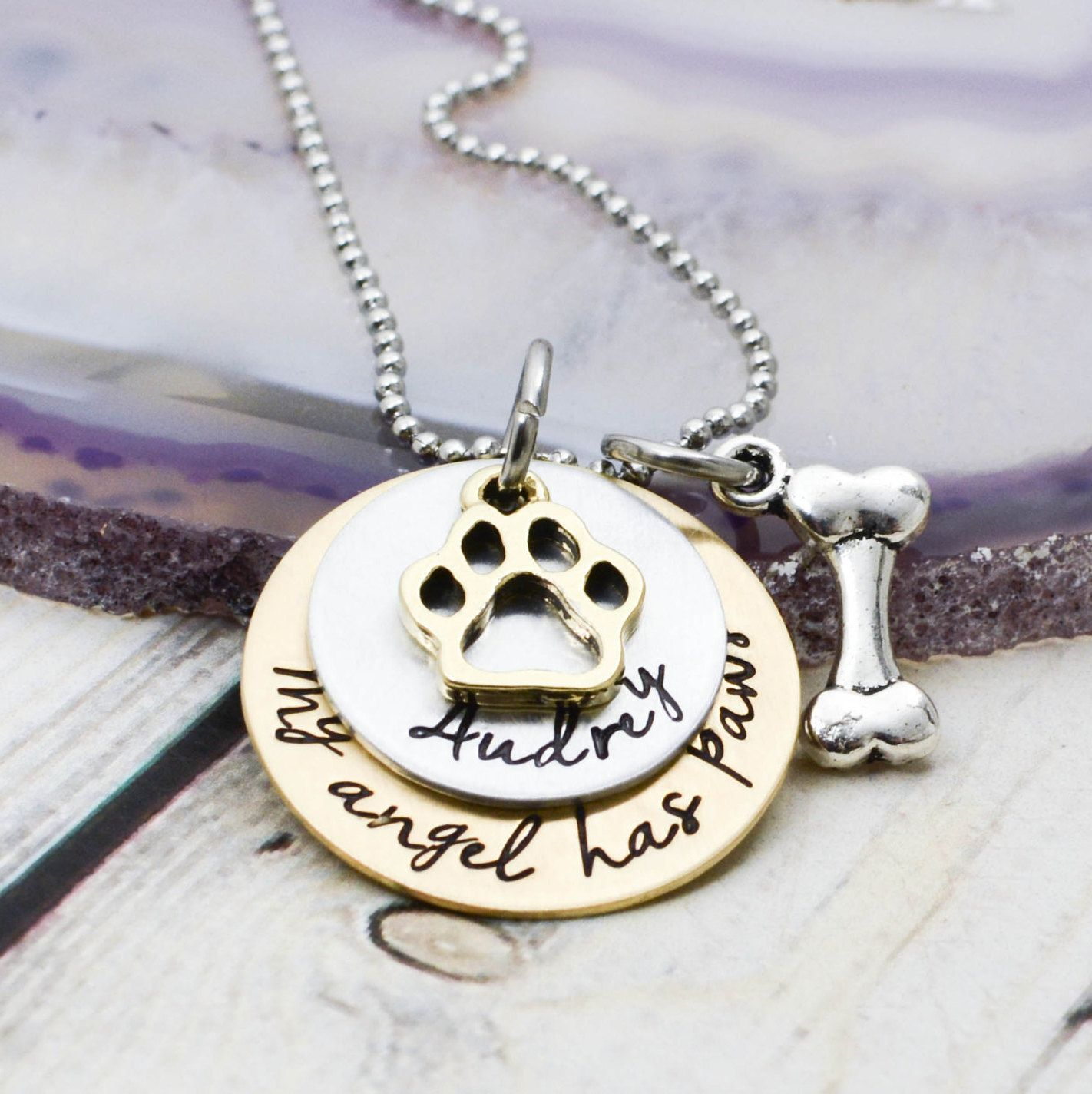 once memorial pet side desert by product necklace heart forever in my