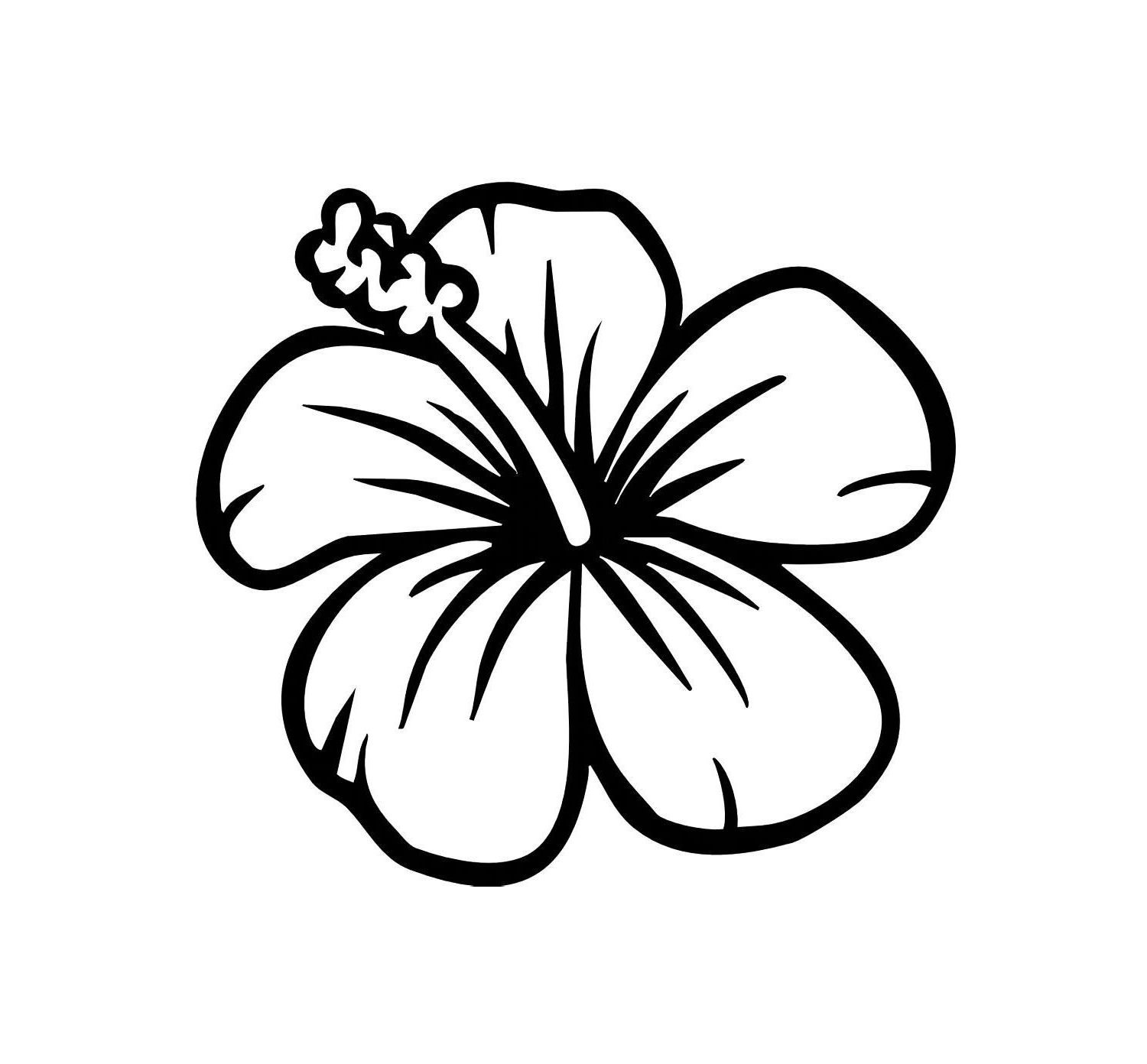 Easy To Draw Hawaiian Flowers Drawing And Sketches Clipart