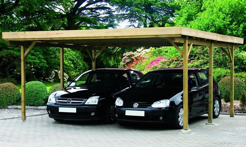Primera Double Carport (£1,100) Carport, Wooden carports