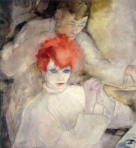 Jeanne Mammen Die Rothaarige Um 1928 Kunstlerbedarf Deutsche Kunstler Kunstproduktion