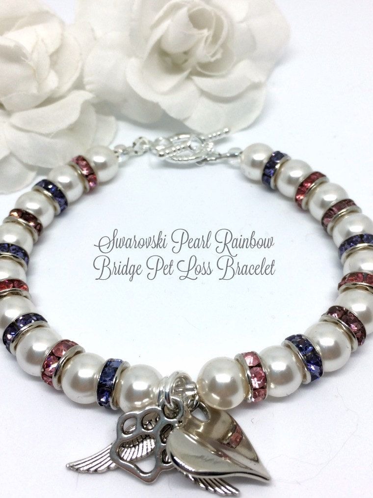 rainbow bridge bracelet pet