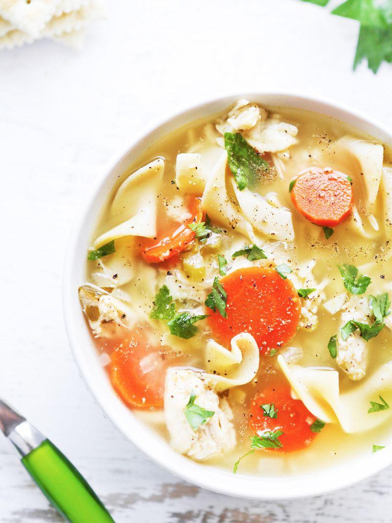 crock pot chicken noodle soup  recipe  homemade soup