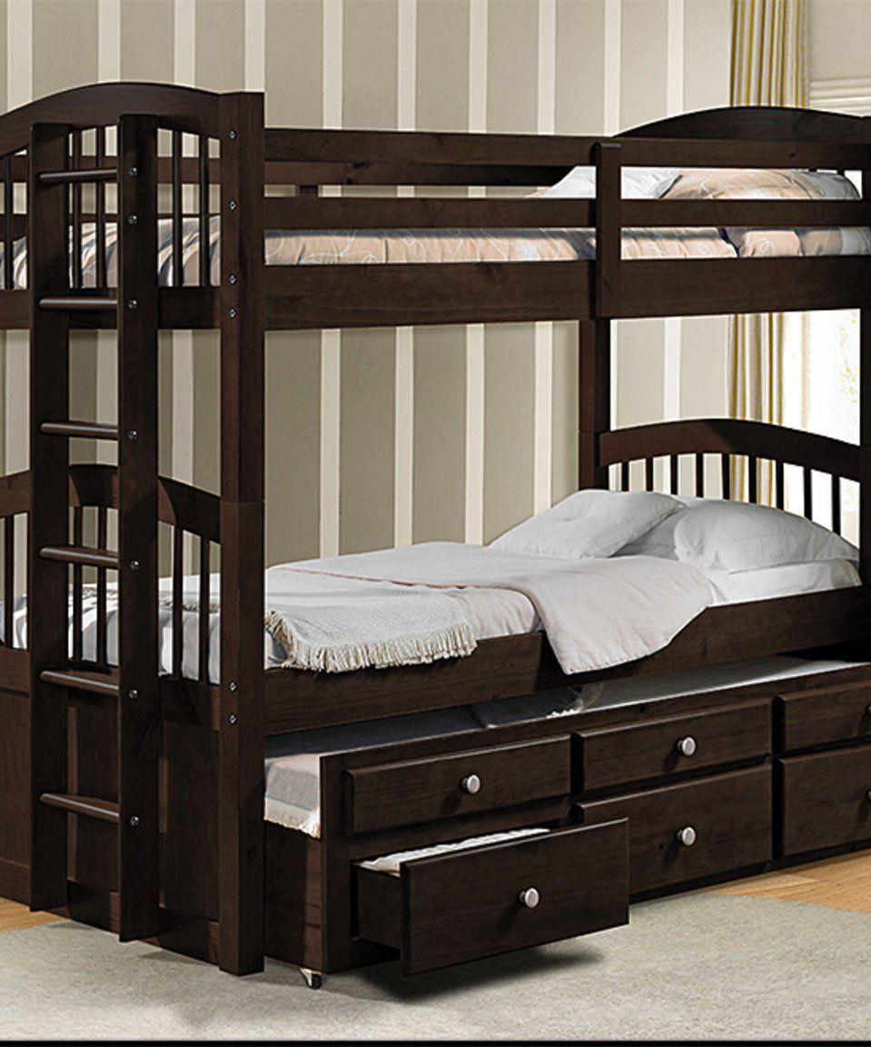 Take A Look At This Micah Twin Over Twin Trundle Storage Bunk Bed