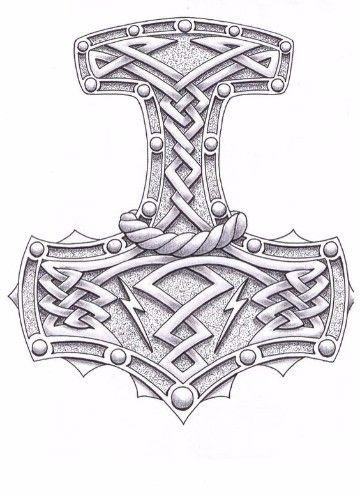 Imagenes Del Martillo De Thor Para Colorear Tatuajes