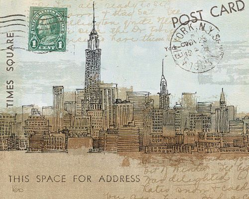 Avery-Tillmon-Cities-III-New-York-Fertig-Bild-20x25-Wandbild-Postkarte-Staedte
