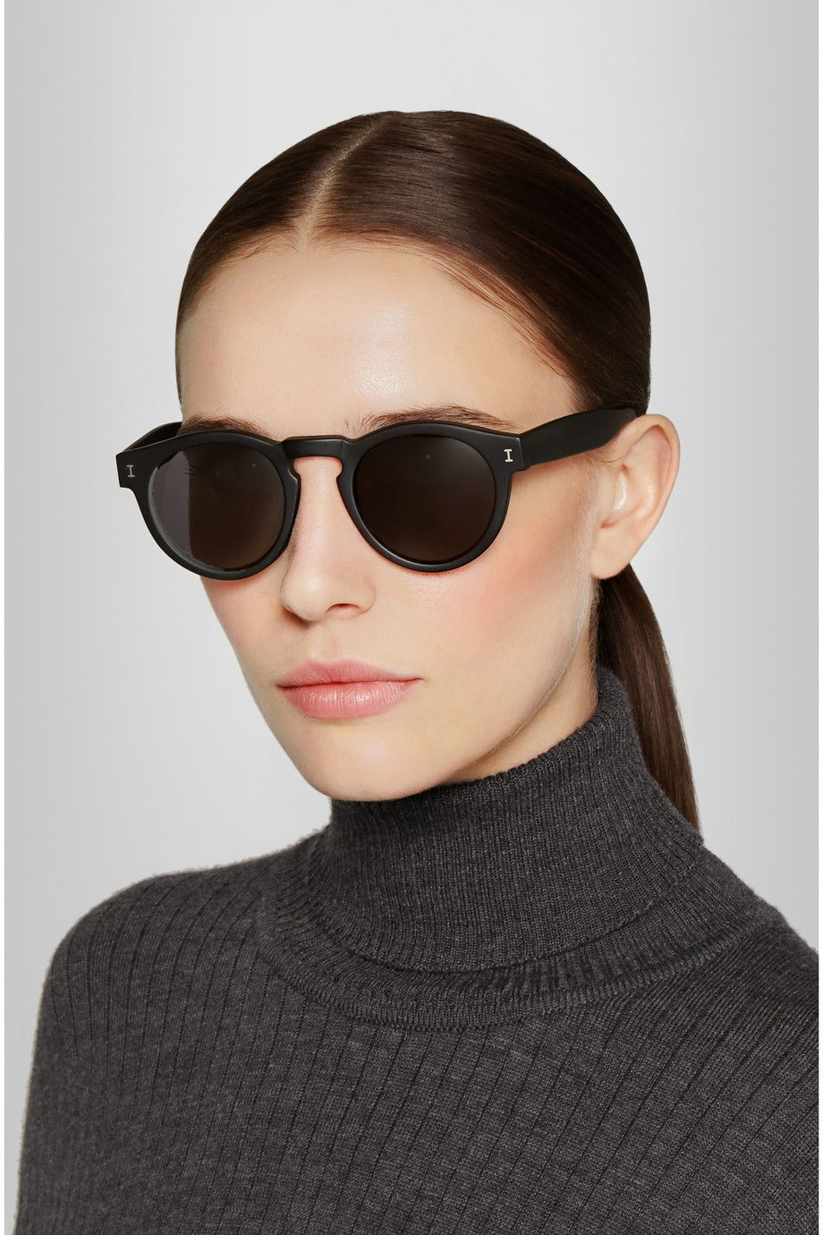 Leonard Round-frame Acetate Sunglasses - Black Illesteva ig3Hi
