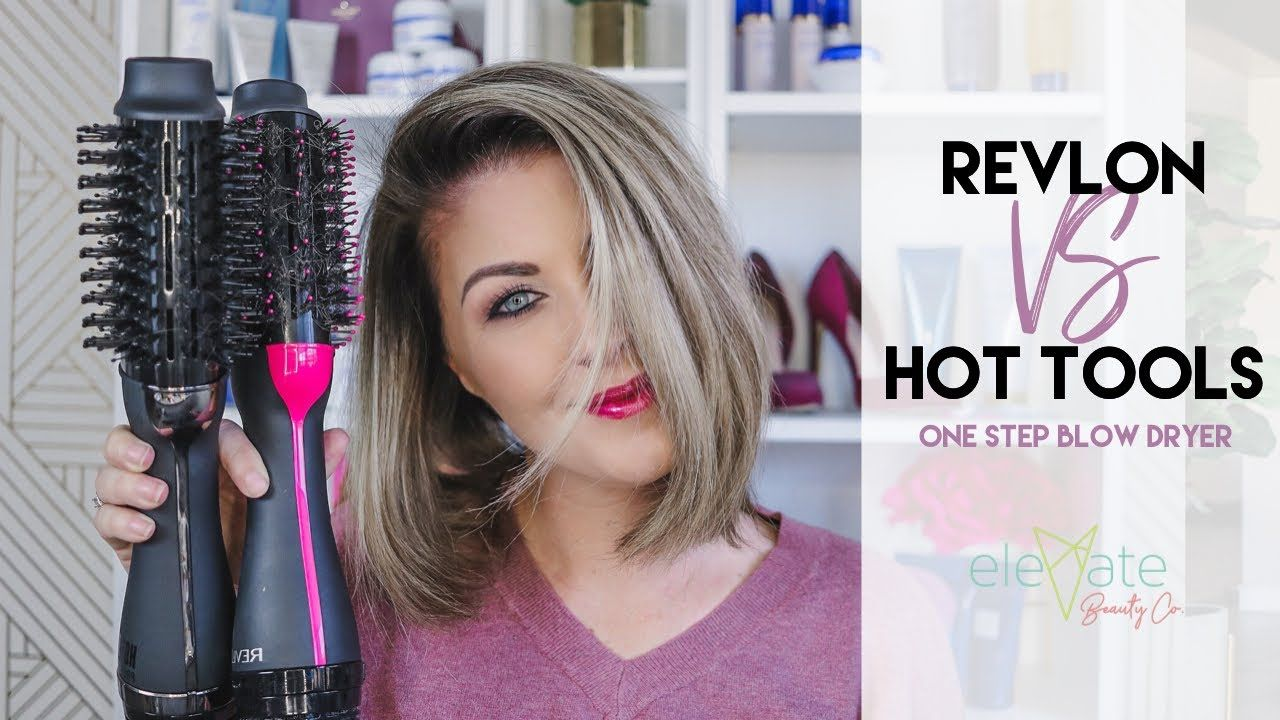 Hot Tools Pro Vs Revlon One Step Volumizing Hair Dryer Volumizer Blowout Demo Review Short Hair Revlon Hair Dryer Hair Dryer Brush Hot Tools Hair Dryer