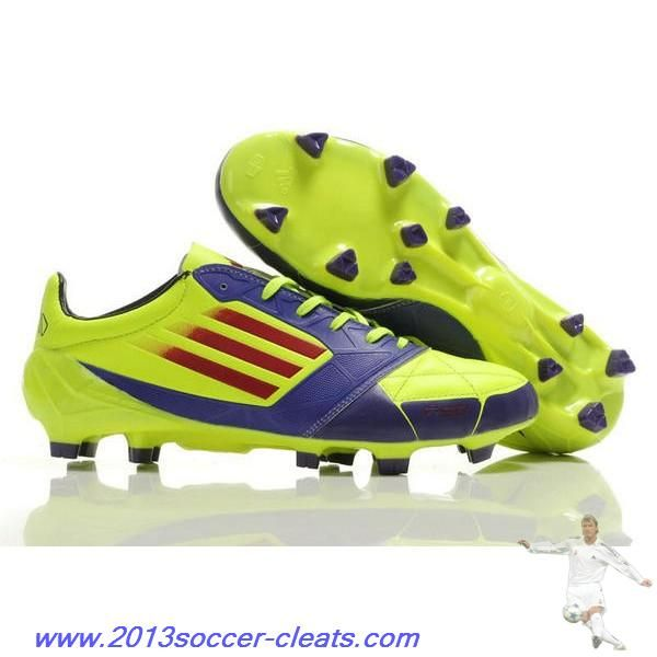 fed8565d5f3 Authentic adidas F50 adizero TRX FG Leather Micoach Bundle Shoes Purple  Green Red Football Boots