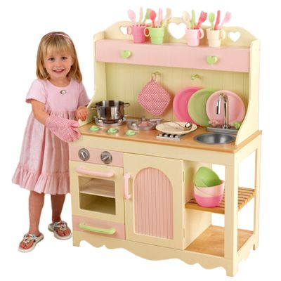 Play Wood Kitchen Set | baby girl | Kidkraft kitchen ...