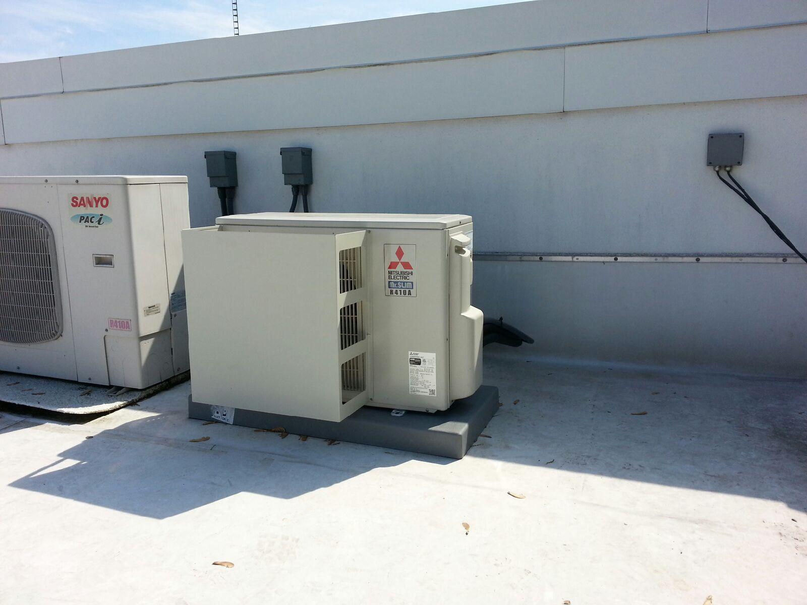 Mitsubishi Minisplit Ac Outdoor Unit For Server Room