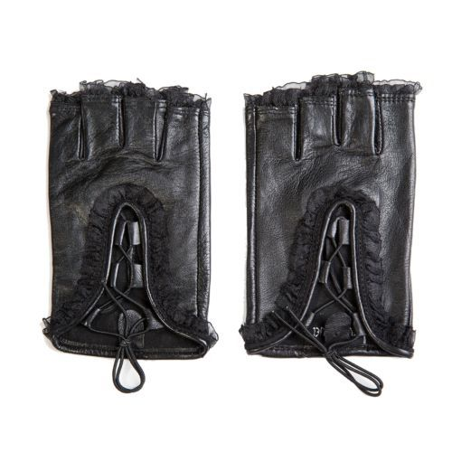 Women Lady's Lace Fingerless Genuine Leather Unlined Perforated Driving Gloves   eBay