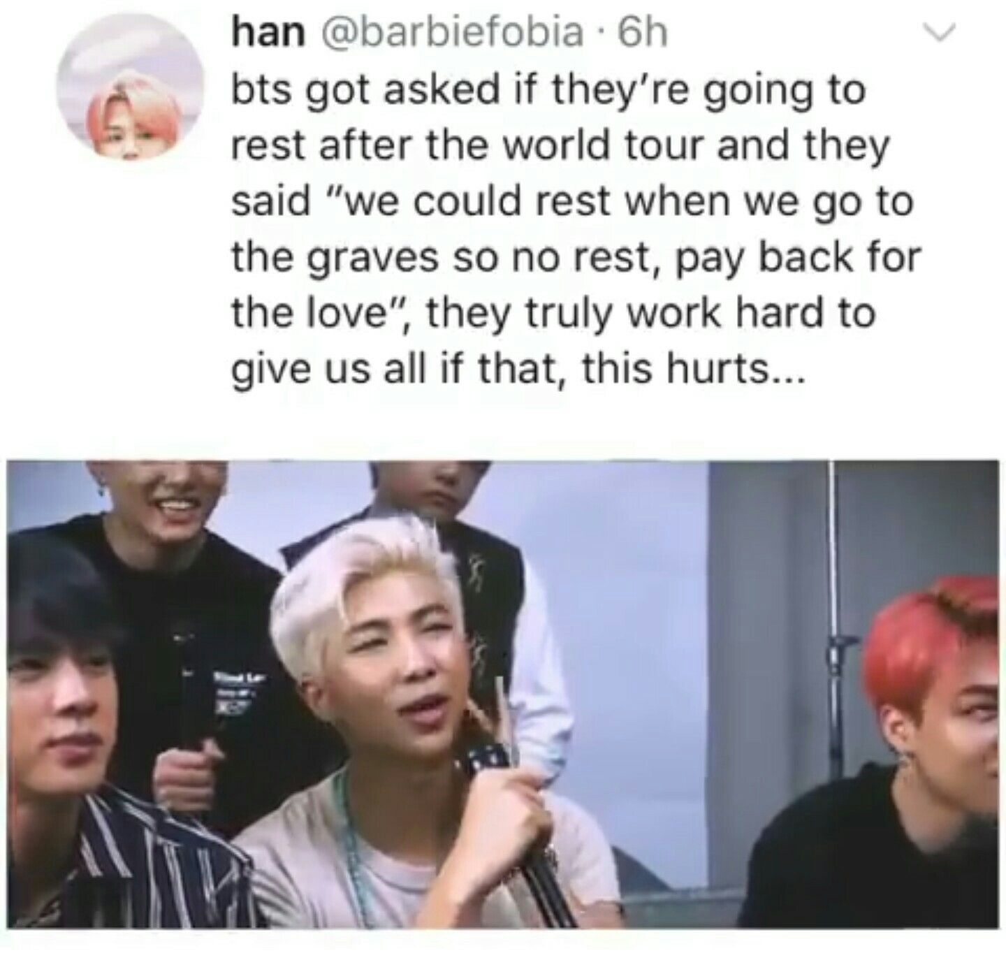 Please Do Not Overwork Yourself We Will Always Support You Even When You Disband To Go Into The Army Remember There Is A Reas Bts Theory Bts Memes Bts Quotes