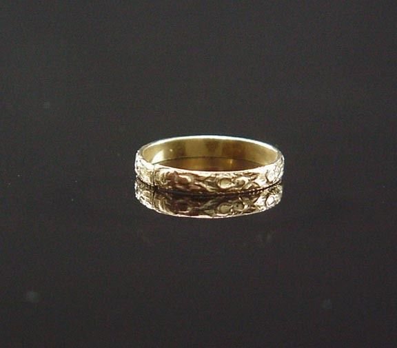 Cute Antique Victorian yellow Gold Orange Blossom Eternity Floral