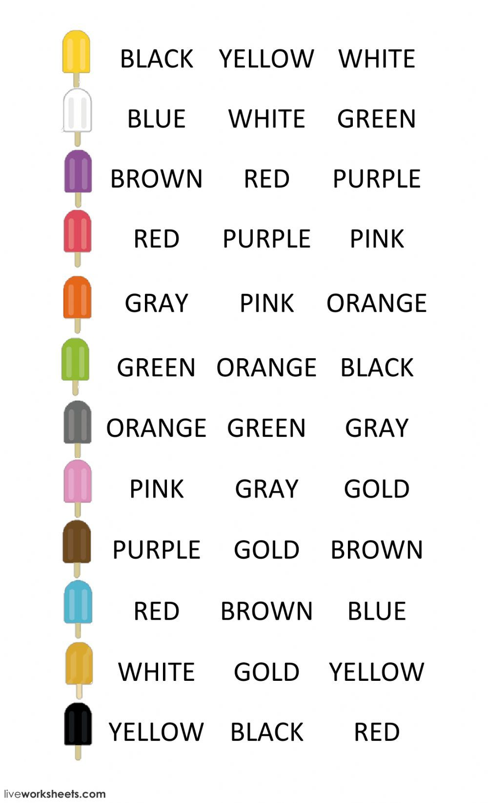Colours Interactive And Downloadable Worksheet You Can Do The Exercises Onli English Activities For Kids English Worksheets For Kids Learning English For Kids [ 1643 x 1000 Pixel ]
