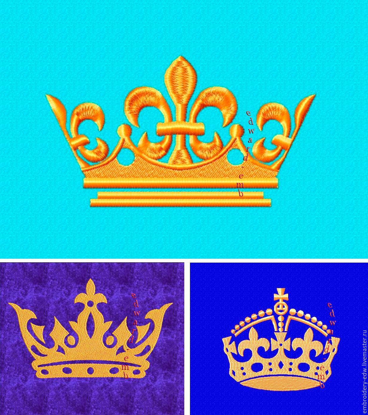Buy Crown Gold. Design for embroidery