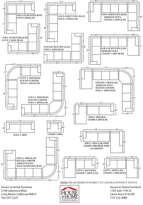 Sectional Sofa Dimensions | Sofa Dimension, Sofa Layout, Sofa Design