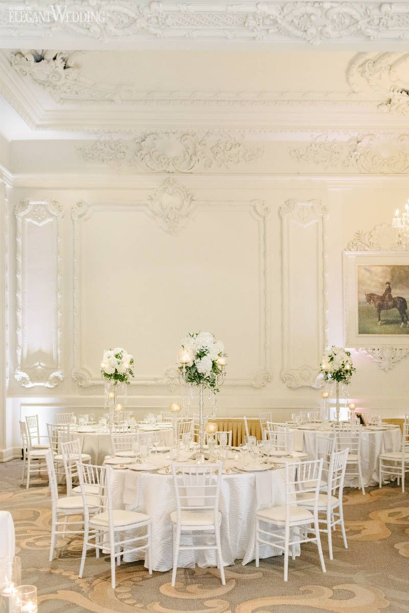 All White Wedding Theme That Will Inspire | Wedding table settings ...