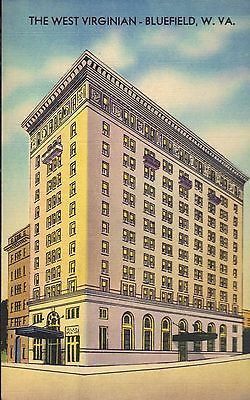 Usa West Virginia Picture Post Card Bluefield The Virginian Hotel