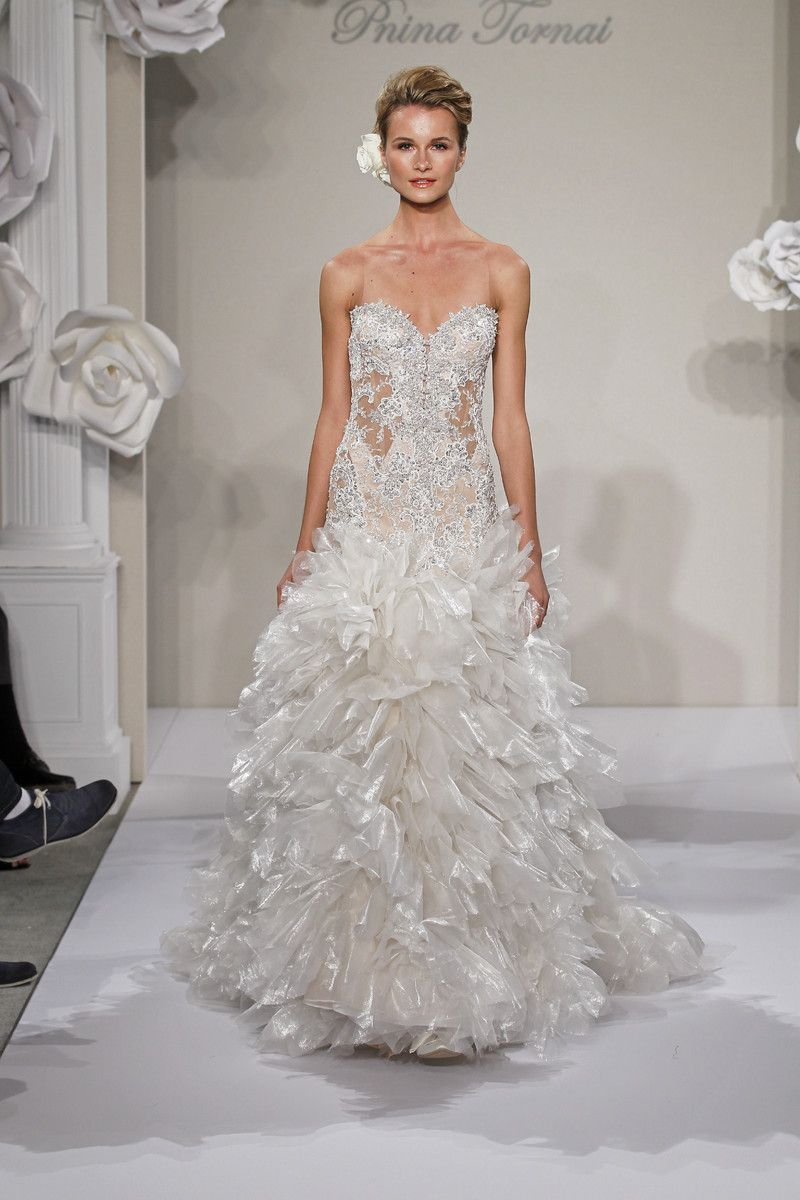 Avant-Garde Formal Hollywood Glam Romantic Shabby Chic Ivory White $$$$$ - $5001 and up A-line Ball Gown Beading Floor Natural Pnina Tornai ...