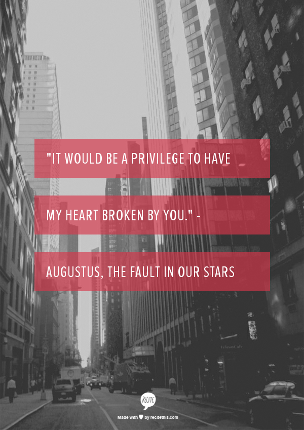 It would be a privilege to have my heart broken by you ...