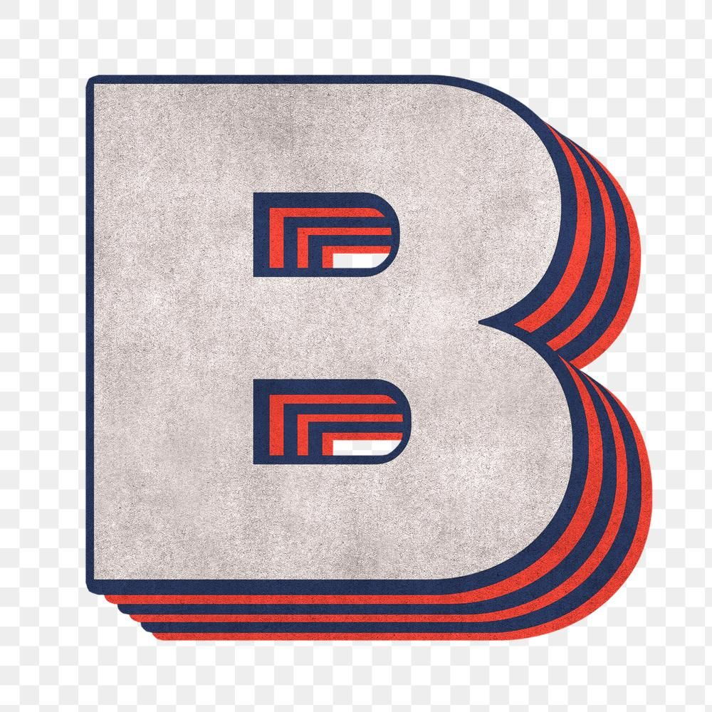 Letter B Png Layered Effect Alphabet Text Free Image By Rawpixel Com Cuz Alphabet Png Letter B