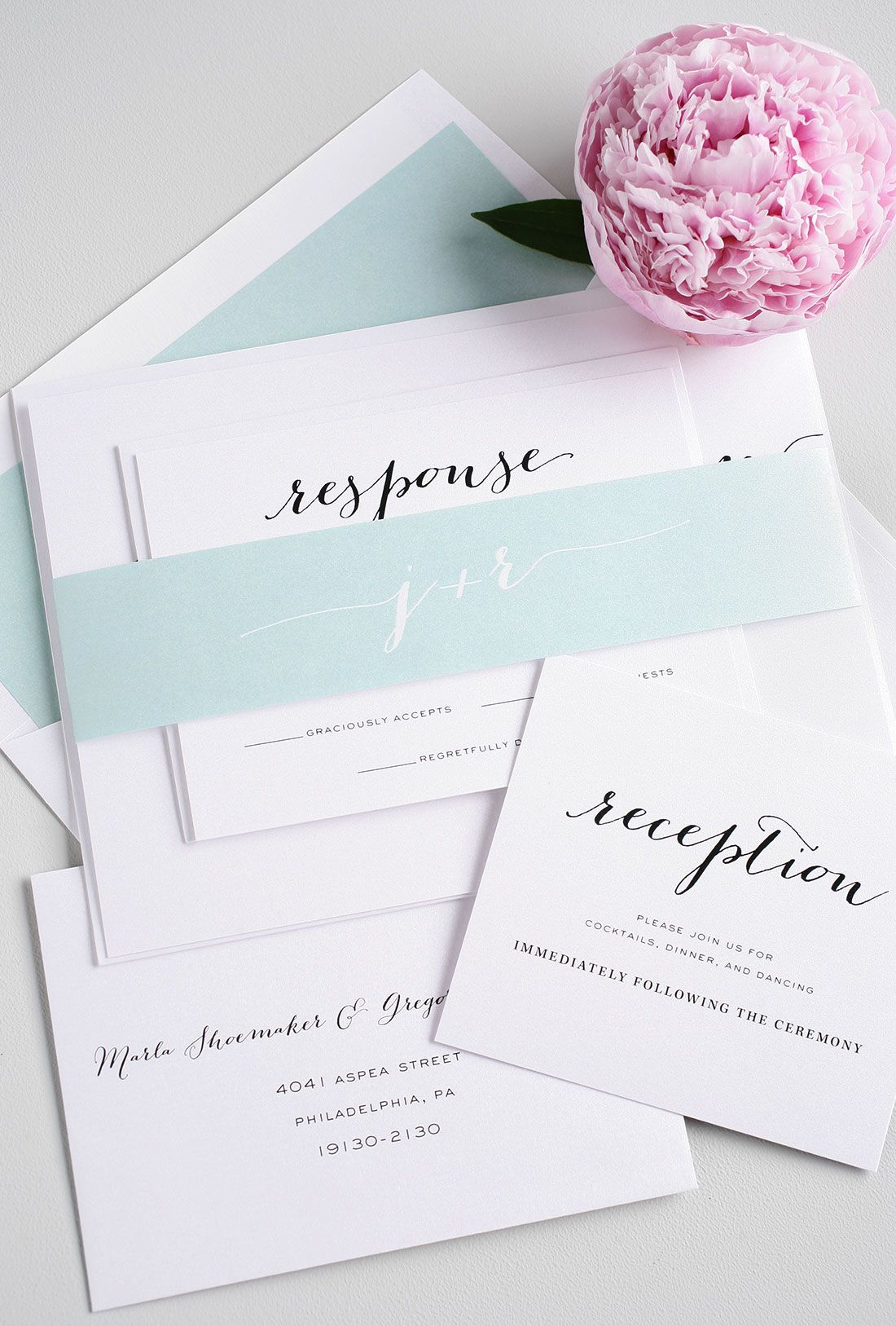 Mint Wedding Invites From Shinewedding Wchappyhour Invitations