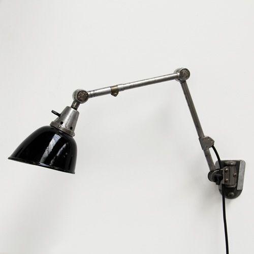 Curt Fischer designed Midgard industrial wall lamp