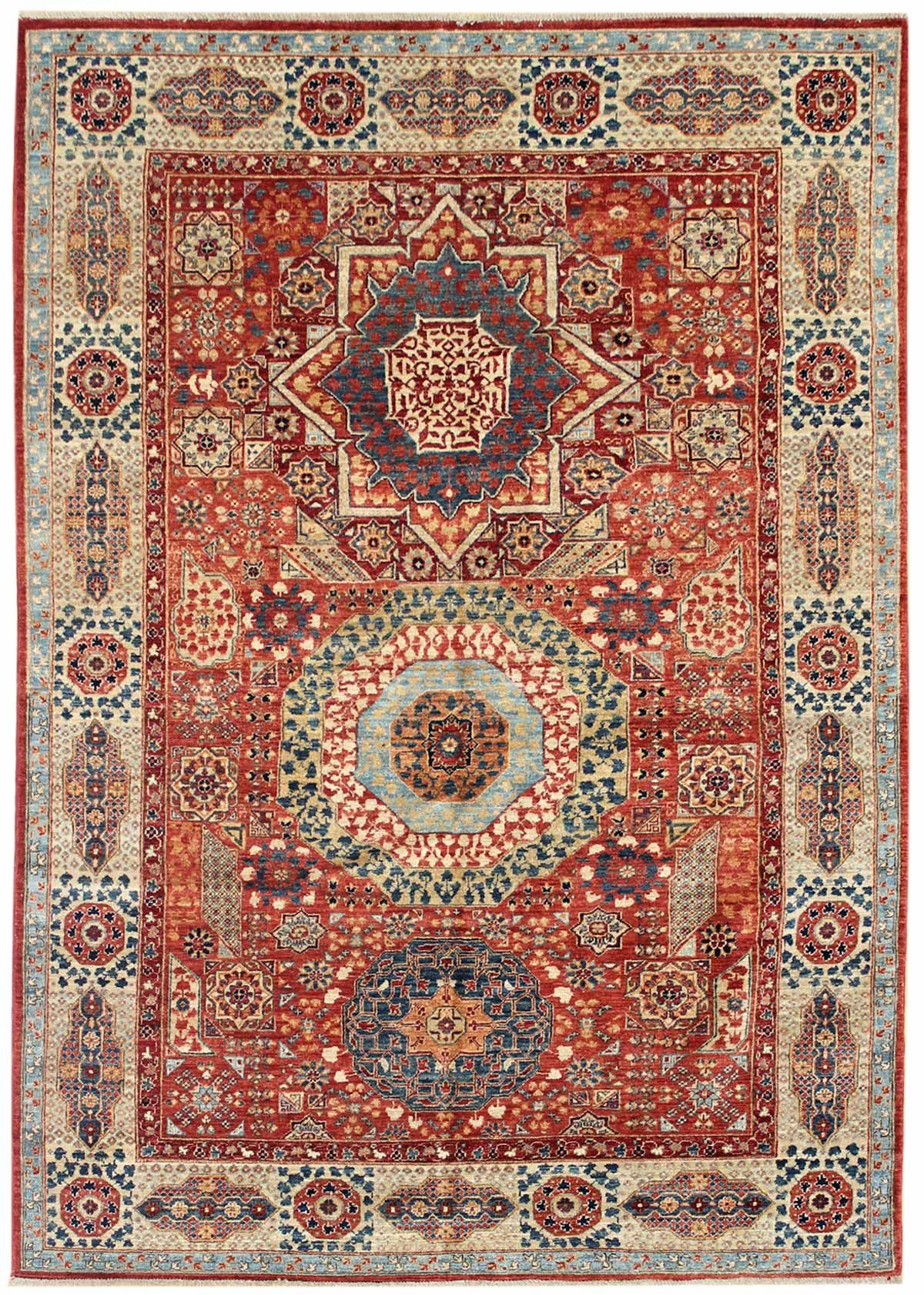 Geometric Oriental Rugs Gallery Mamluk Design Rug Hand Knotted In Afghanistan Size