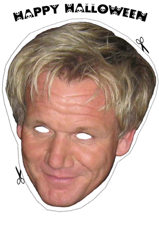 The Daily Meal Gordon Ramsay Halloween Mask Gordon Ramsay Ramsay Halloween Masks