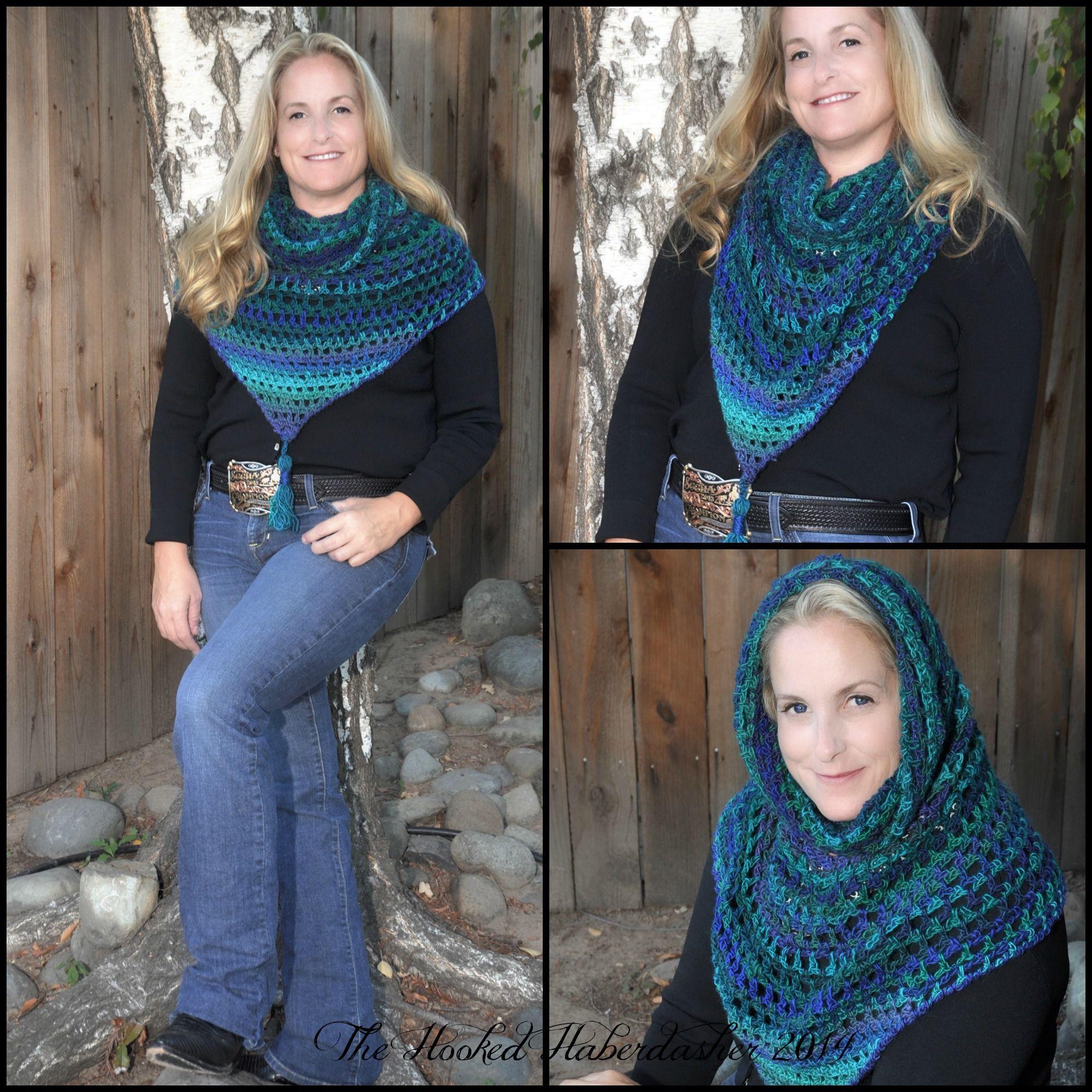 Pattern of the week ~ Wimple Hood Bandanna Cowl   knitting/crochet ...