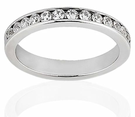 Delicate Channel Set Diamond Wedding Band Masterfu