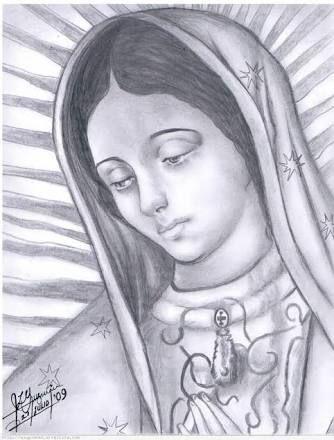 Resultado De Imagen Para Dibujo Virgen Maria Lapiz Virgencita De Guadalupe Caricatura Virgen Maria Dibujo Dibujos De Virgen