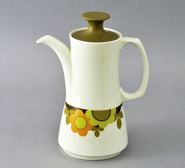 1960's Grindley coffee pot, 'Discovery'.