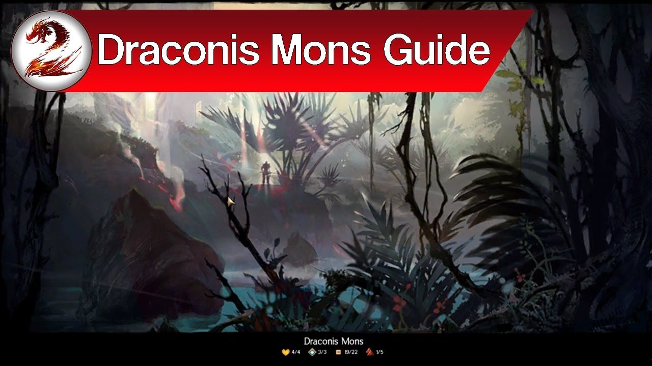 Guild Wars 2: Draconis Mons Map Guide | Primordial Orchids, Zinn