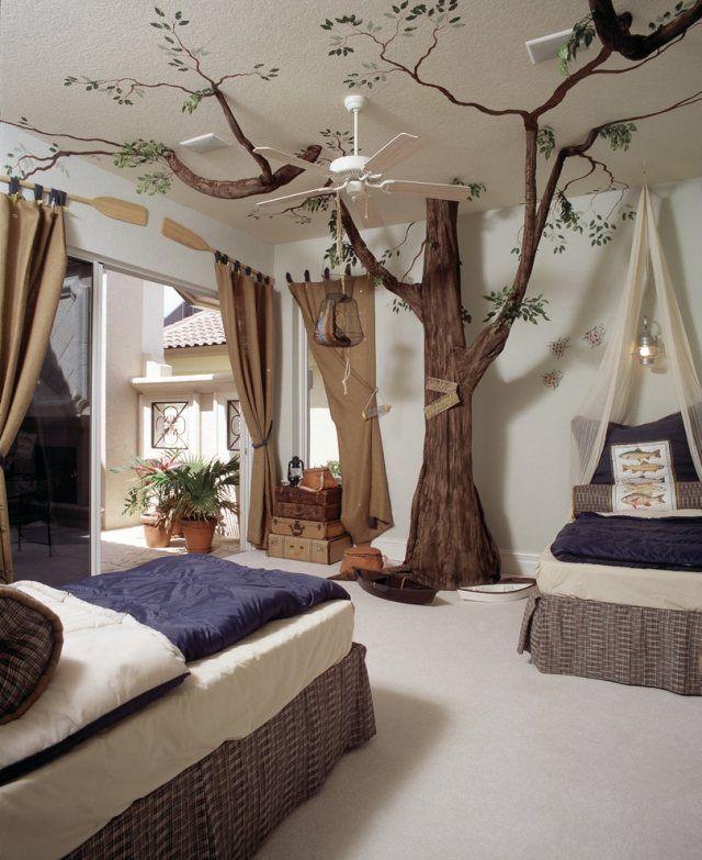 Fantasievolle Deko des Kinderzimmers-Baum selbst gestalten ...